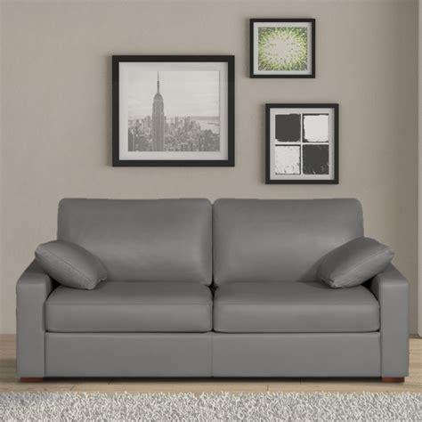 canapé en cuir gris canape gris pas cher