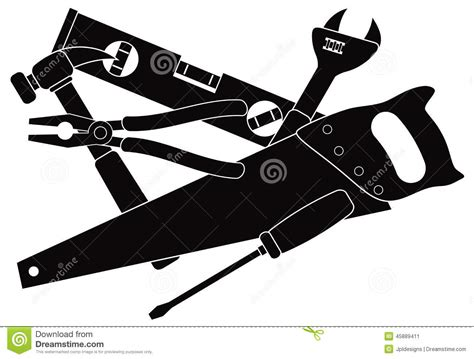 construction tools clipart construction tools black and white vector illustration