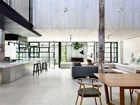 modern industrial floor l old brick warehouse in melbourne finds new life as a