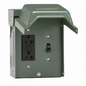 Outdoor Outlet Altwarmbüchen : ge 20 amp backyard outlet with switch and gfi receptacle u010s010grp the home depot ~ Markanthonyermac.com Haus und Dekorationen