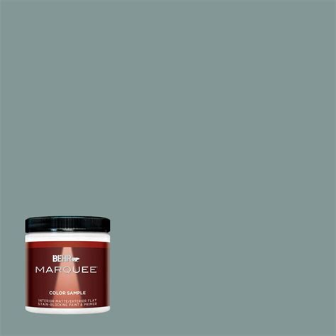 behr marquee 8 oz t18 in the moment matte interior exterior paint and primer in one sle