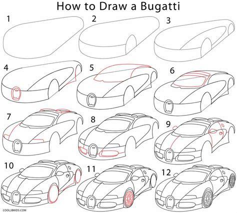 Basit çok kolay bugatti veyron spor araba çizim car driver sports cars how to draw realistic super car very easy drawing sports for kids step by step. How to Draw a Bugatti (Step by Step Pictures) | Cool2bKids