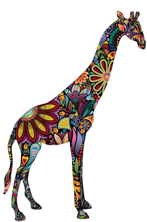 amazoncom  wonderful walls giraffe wall sticker decal