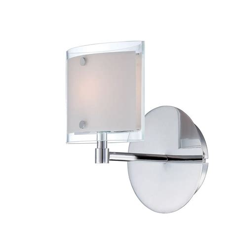ls sconces paint illumine designer 1 light chrome sconce cli ls 16351 the