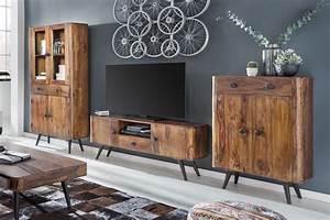 Möbel As Online Shop : sit m bel wohnwand knob sheesham natur m bel letz ihr online shop ~ Avissmed.com Haus und Dekorationen