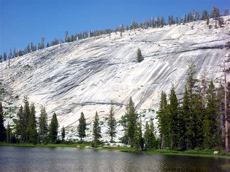 granite hillside lakes yosemite national park