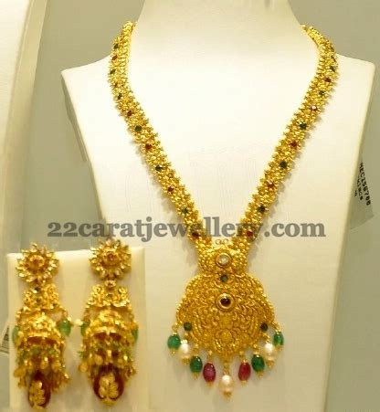 light weight trendy gold haram jewellery designs