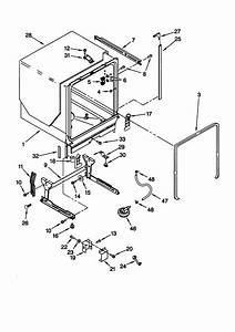 Kitchenaid Model Kuds25shbl1 Dishwasher Genuine Parts