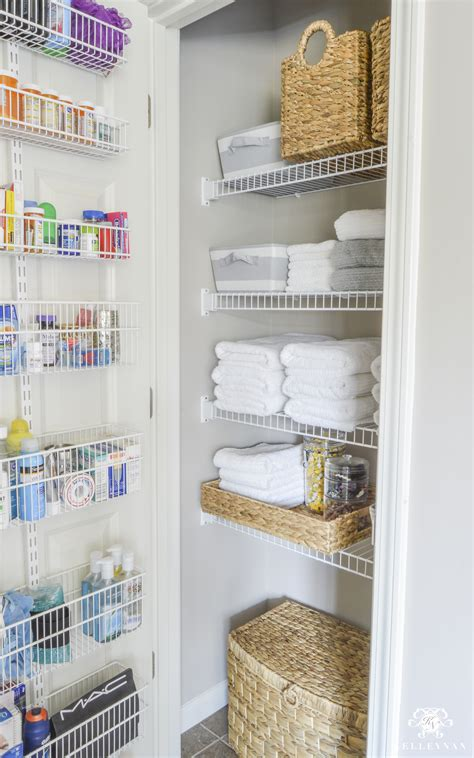 The Linen Closet by Organized Bathroom Linen Closet Anyone Can Kelley Nan