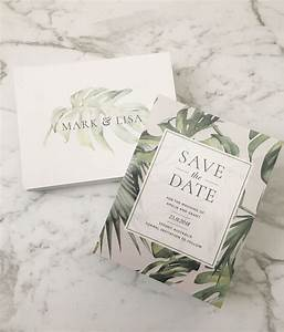 save the date printed save the date tropical With tropical print wedding invitations