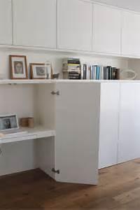 Bureau Avec Rangement : un bureau discret et beaucoup de rangement bidouilles ikea ~ Teatrodelosmanantiales.com Idées de Décoration
