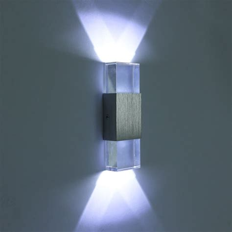 modern 3w indoor led wall lights up down led crystal l