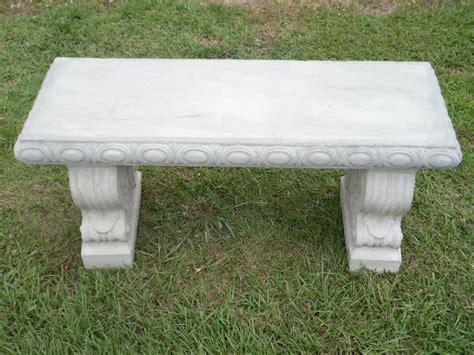 40 quot straight scroll concrete patio bench ebay