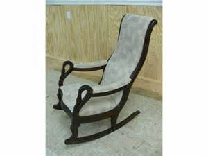 antique swan arm rocking chair