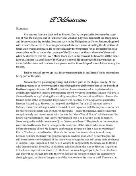 summary   reviewreflection  el filibusterismo el filibusterismo summary reflection