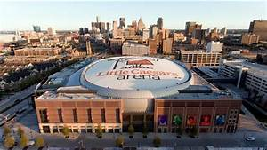 Little Caesar's Arena - Aerial time lapse - Beginning to ...