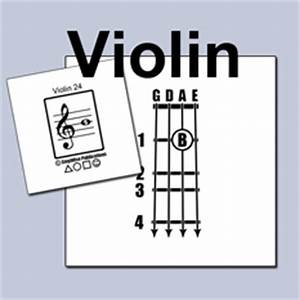 Violin Chart And Flashcards Stepwise