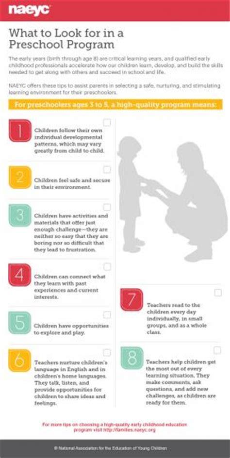 what to look for in a preschool program naeyc for families 720 | Infographic preschoolerStandards