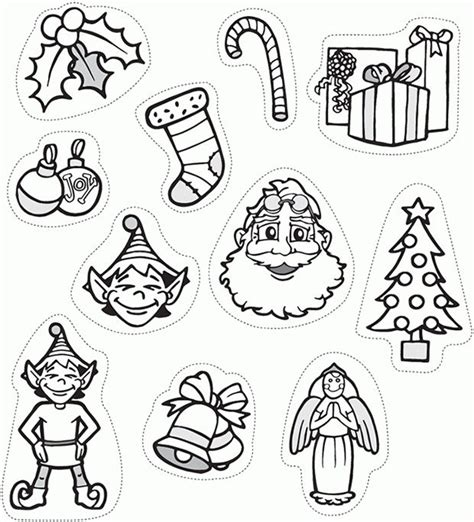 printable christmas decoration cutouts kids activity