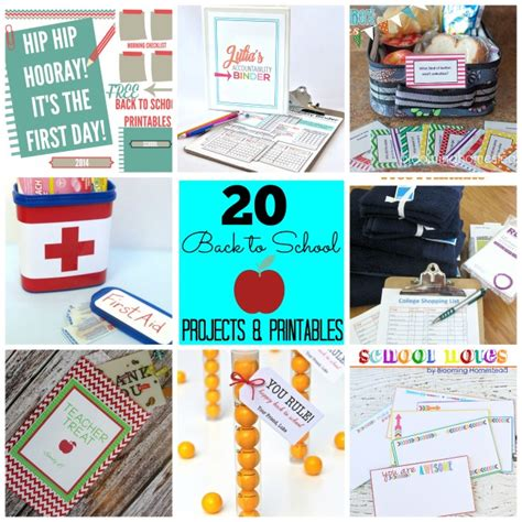 Great Ideas  20 Diy Back To School Projects & Printables