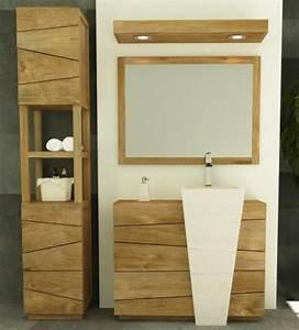 Meuble Salle De Bain Colonne : achat vente meuble salle de bain rhodes 100 teck ~ Teatrodelosmanantiales.com Idées de Décoration