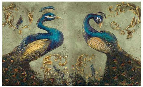 wallpaper custom picture mural wall paper peacock