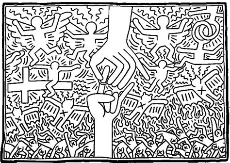 Keith Haring Coloring Pages Democraciaejustica