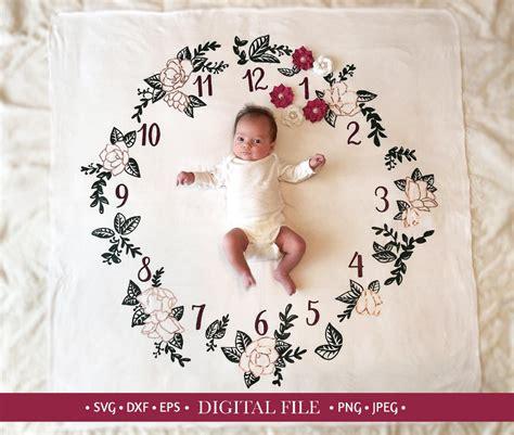 Svg black patch baby like me hand drawn arrow love illustration. Baby Monthly Milestone SVG: Digital File Cricut Silhouette ...