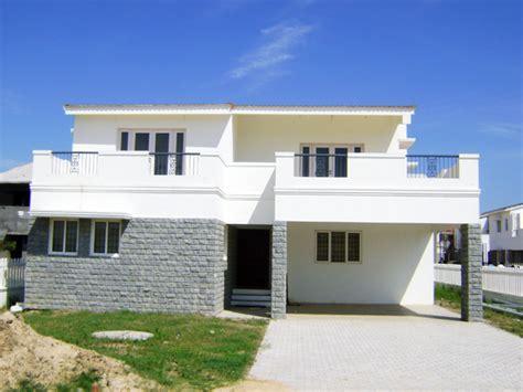facade villa model small house plans modern