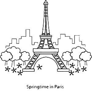 paris france eiffel tower coloring page paris france