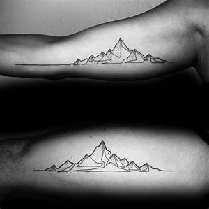 50 Geometric Mountain Tattoo Designs For Men - Geometry Ink Ideas