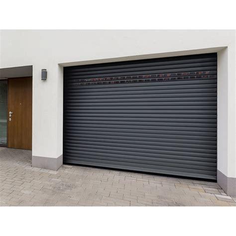 porte de garage enroulable leroy merlin porte de garage 224 enroulement motoris 233 e artens essentiel h 200 x l 240 cm leroy merlin
