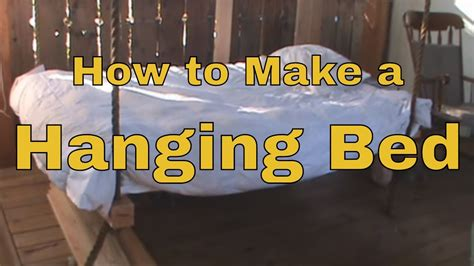 How To Make A Hanging Bed  Wooden Hammock  Porch Swing