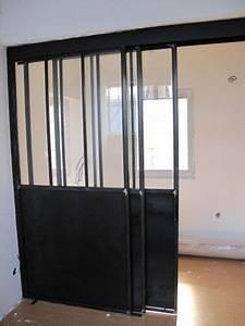 separation vitree avec porte coulissante portes With meuble pour entree de maison 6 porte coulissante atelier dartiste vitree et en acier 1