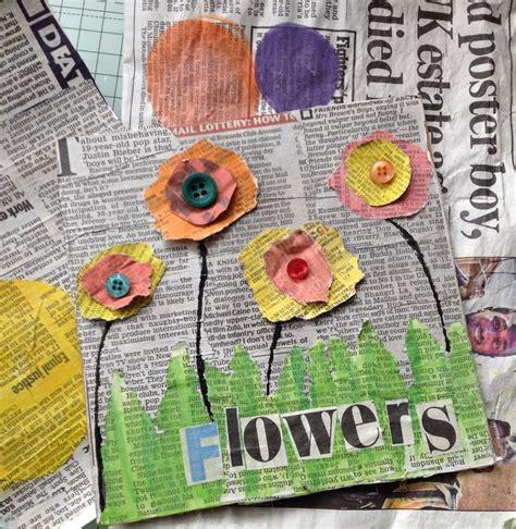 die  besten blumen basteln mit kindern ideen auf pinterest krippe fruehling malen mit