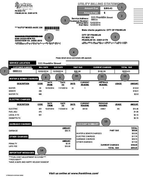 help paying light bill in virginia utility billing customer service city of franklin