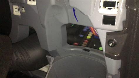 remove trim to access fuse box on transit custom