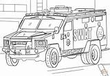 Coloring Swat Truck Pages Printable Paper Drawing Dot sketch template