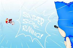 Super Sonic Running by MikuMiruMikuru on DeviantArt