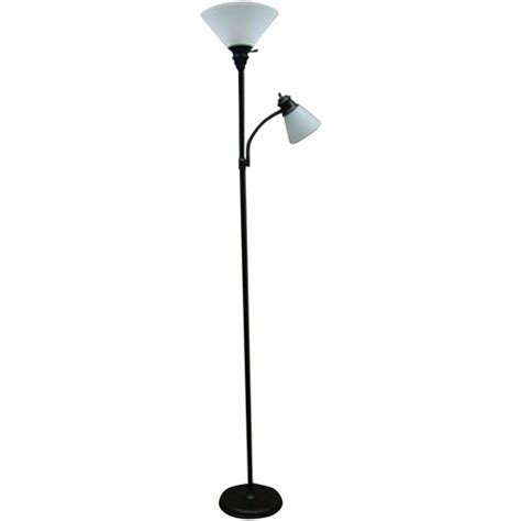 mainstay floor l with reading light mainstays rubbed bronze combo floor l with reading