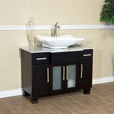 """You don't have to give up style or convenience in your smaller bathroom. 40"""" Canete Single Vessel Sink Vanity - Bathgems.com"""