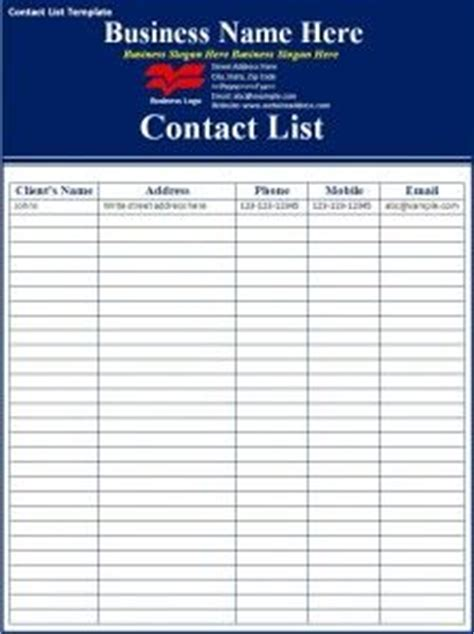 professional employee contact list template  ms excel