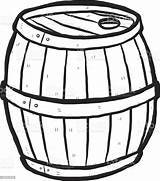 Barrel Cartoon Wooden Clipart Keg Drawn Vector Hand Alcohol Clip Illustration Beer Wood Cliparts Sketch Antique Drink Coloring Background Clipartmag sketch template