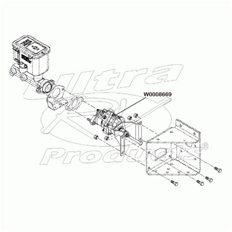 Wiring Diagram For Brake Booster by W0008669 Hydro Boost Power Brake Booster Asm 17 8