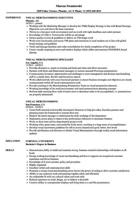 Visual Merchandiser Resume by Visual Merchandising Resume Sles Velvet