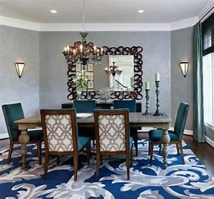 Teppich Landhausstil Blau : 105 wohnideen f r esszimmer design tischdeko und essplatz im garten ~ Markanthonyermac.com Haus und Dekorationen
