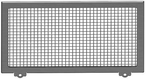 radiator screens radiator rock screen aluminum with stainless steel 20 38 quot x 12 0 quot hepfner racing products