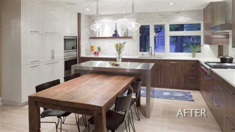 kitchen island breakfast table kitchen design remodel of a 1960 s house creates a well connected kitchen youtube