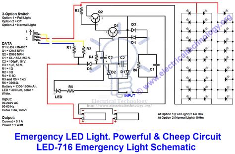 emergency led lights powerful cheap led  circuit
