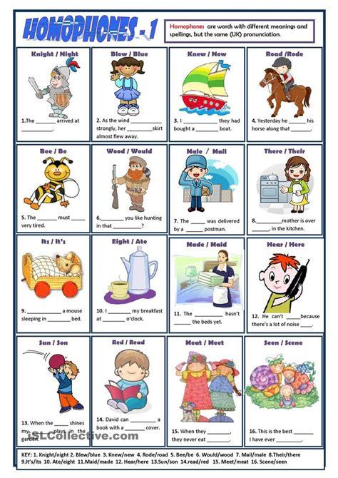 homophones worksheet homophones student